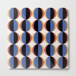 Mod Circle Pattern II Metal Print