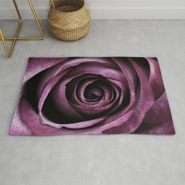 Purple Rose Decorative Flower Rug