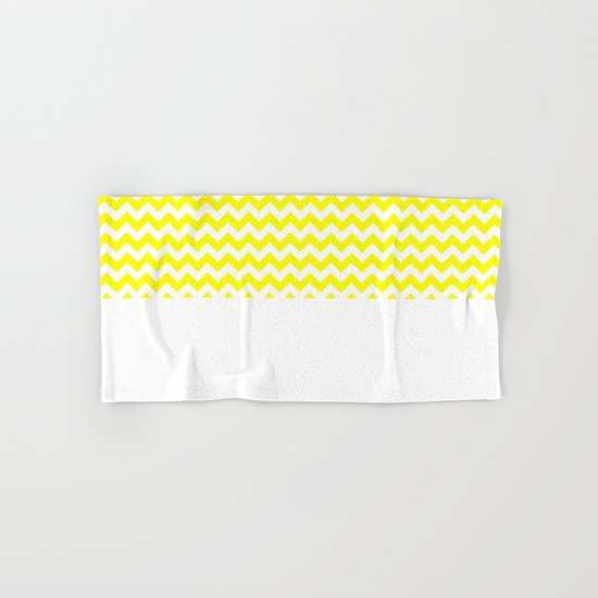 Chevron (Yellow/White) Hand & Bath Towel