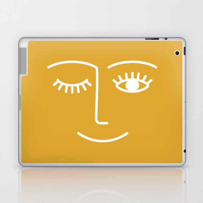wink / mustard Laptop & iPad Skin