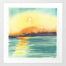 Cresent Bay Sunset Art Print