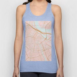 Amsterdam map Unisex Tank Top