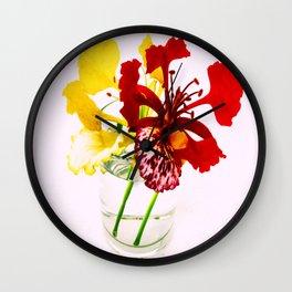 Summer Flower Wall Clock