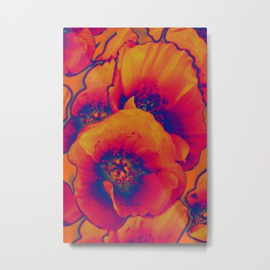Poppies(vintage)3 Metal Print