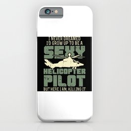Helicopter Helicopter Pilot Gift Idea Design iPhone Case