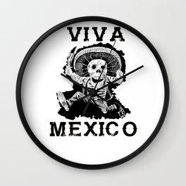 Viva Mexico Mad Dead Mariachi Wall Clock