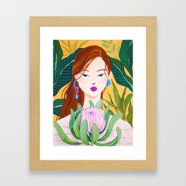 Botanical Lady Framed Art Print