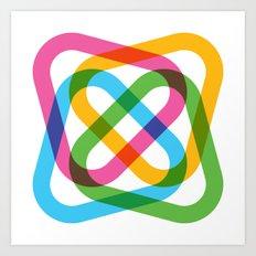 Colorful Swirl Art Print