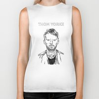 radiohead Biker Tanks featuring Thom Yorke Radiohead by Mark McKenny