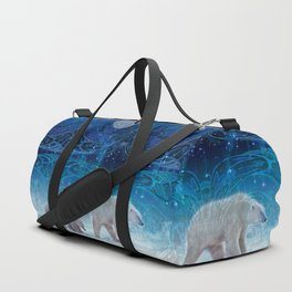 Arctic Journey of Polar Bears Duffle Bag