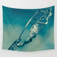 tangled Wall Tapestries featuring Tangled Spines by Faded  Photos