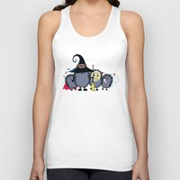 animal crew Tank Tops featuring Halloween party crew by mangulica