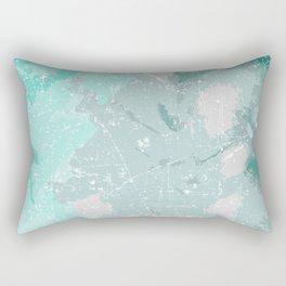Teal mood Rectangular Pillow