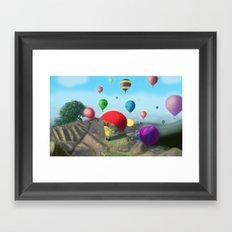 surprise view. Framed Art Print