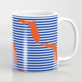 Florida university gators orange and blue college sports football stripes pattern Coffee Mug