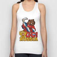 hockey Tank Tops featuring HOCKEY by solomnikov