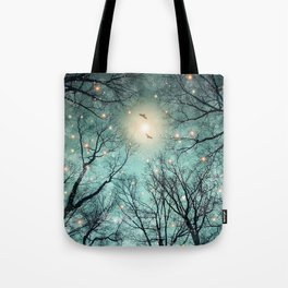 Nature Blazes Before Your Eyes (Mint Embers) Tote Bag