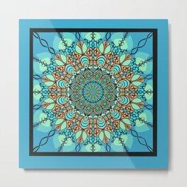 Zentangle Mandala 180218 - Bohemian Mandala Metal Print