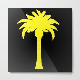 Yellow Palm Tree Metal Print