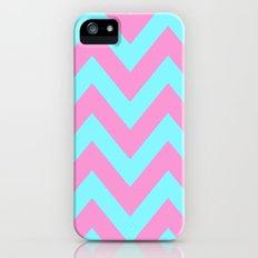 PINK & TEAL CHEVRON  Slim Case iPhone (5, 5s)