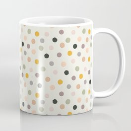 Hand-painted Confetti Polka Dots in Trendy Colors, Beautiful Acrylic Texture Coffee Mug