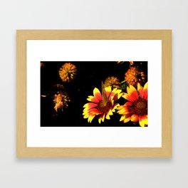 Flowers & Butterfly Framed Art Print