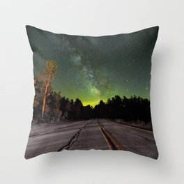 Northern Lights (Color) Throw Pillow