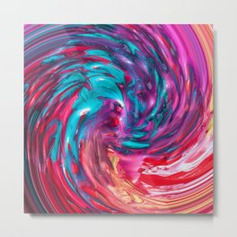 Abstract Twirl Metal Print
