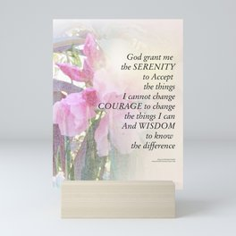 Serenity Prayer Rhodie Glow Mini Art Print