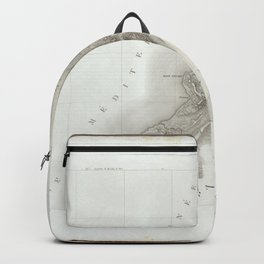 Old Historic State of Palestine Map Backpack