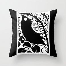 Doodlebird Print Throw Pillow