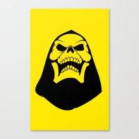 skeletor Canvas Prints featuring Skeletor. by Glassy