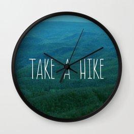 Take A Hike Wall Clock