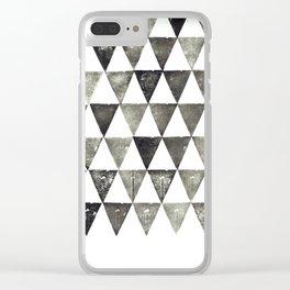 Triangulate Clear iPhone Case