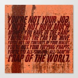 You're not your job Canvas Print