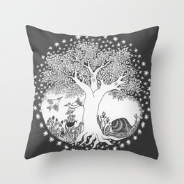 Startree: In the Meadow - Black Throw Pillow