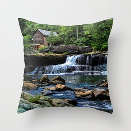 Babcock Grist Mill Throw Pillow
