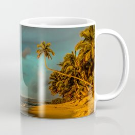 Rainbow Palm Tree Rincon Puerto Rico Coffee Mug