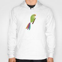 parrot Hoodies featuring Parrot by Juliana Motzko