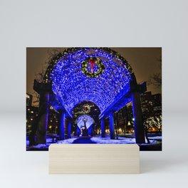 Merry Christmas from Boston, MA Mini Art Print