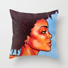 Groovy Fro! Throw Pillow