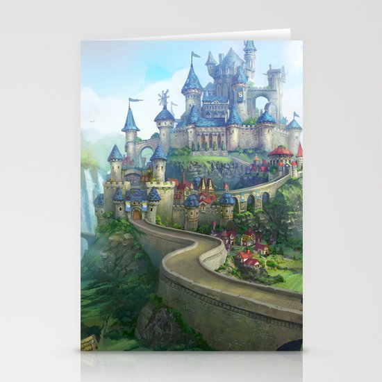 epic fantasy castle  Stationery Cards