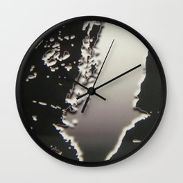 Black & Silver Grey Photograph Liquid Metal #2 Wall Clock