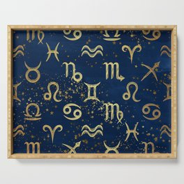 Twelve Zodiac Signs Horoscope Pattern Serving Tray