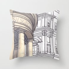 SANTA MARIA DELLA PACE, Rome Travel Sketch by Frank-Joseph Throw Pillow