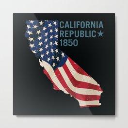 California Pride Metal Print