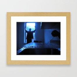 Blue Mood Framed Art Print