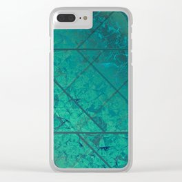 Green Marble Texture G294 Clear iPhone Case