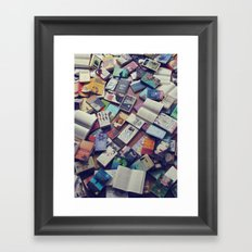 Book mania! (1) Framed Art Print