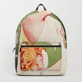 Art Nouveau Absinthe Robette Ad Backpack